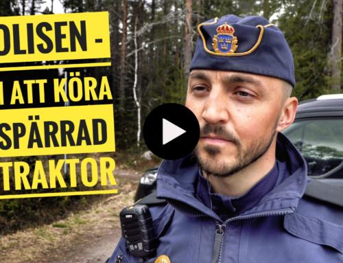 Polisen om att köra ospärrad A-traktor